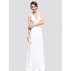 7bf34e61d854 Bílé dlouhé svatební šaty za krk jednoduché elegantní alternativy ...