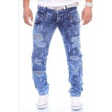 KC-1981 kalhoty pánské 167 jeans prodřené díry džíny