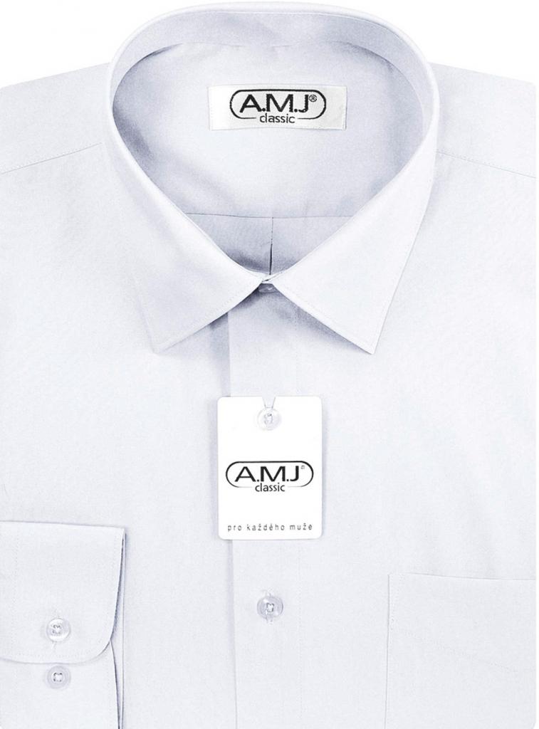 Chlapecká košile AMJ klasická bílá od 399 Kč - Heureka.cz 6c1bc9dd37