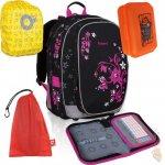 školní batoh CHI 709 A + školní pouzdro CHI 728 A + pytlík na přezůvky TOP 150 G + pláštěnka na batoh + box na svačinu , Topgal