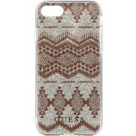 Pouzdro Guess Ethnic Chic Tribal 3D Taupe iPhone 7