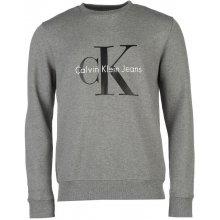 Calvin Klein logo CK - šedá