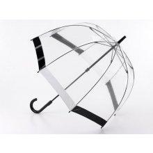 Fulton Dámský průhledný holový deštník Birdcage Black/White L041-4 mFU0010