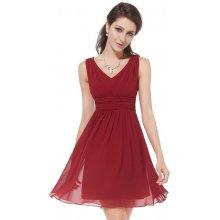 Ever Pretty plesové šaty krátké 3539 bordó 0090773959