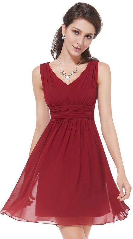 Ever Pretty plesové šaty krátké 3539 bordó 5bfb54d5c5