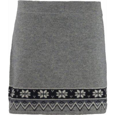 Zimní pletená sukně Scandianvian SKHOOP grey