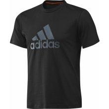 Adidas Ess Logo T Shirt Mens Black