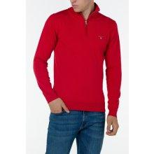 Gant Pánský svetr COTTON WOOL ZIP červená S