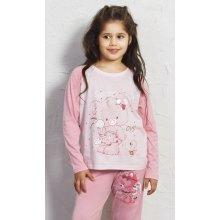 Koala s mašlí dětské pyžamo dlouhé světle růžová