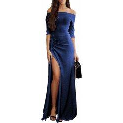 1ff59d2d3c0 Dámské společenské šaty dlouhé metalicky modrá