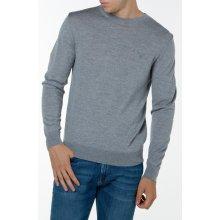 Gant Pánský svetr FINE MERINO CREW šedá M