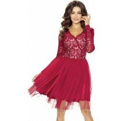 023a427f5a96 Dámské šaty Kartes dámské krajkové šaty s tylovou sukní KM242-4 vínová