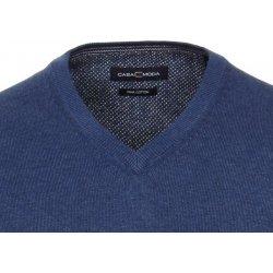 Casa Moda Bavlněný svetr - extra prodloužený rukáv– modrý a9ffac4ae6