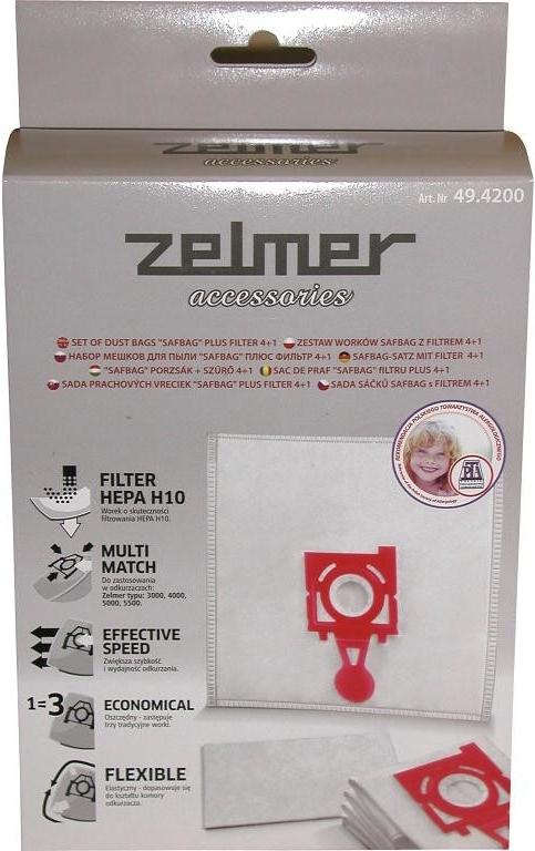 Zelmer 49.4200, 4ks + 1 filtr