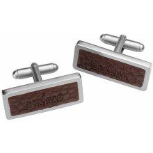 Axcent of Scandinavia ocelové manžetové knoflíčky s kůží XJ10401-2