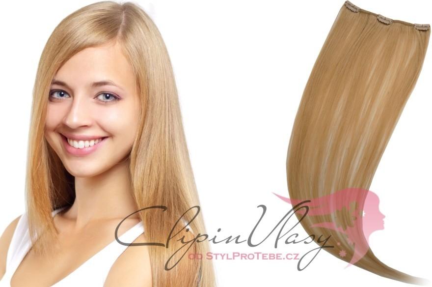 StylProTebe.cz Clip in vlasový pás - odstín 16 (světlá zlatá blond) Délka  vlasů  38 cm (12 g) alternativy - Heureka.cz 97f12421369