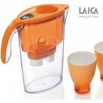 LAICA Stream oranžová + 3x filtr Biflux+ 2x pohárek