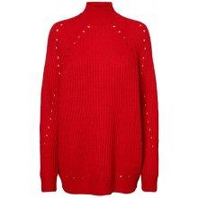 8d1bd9efac8 Vero Moda Dámský svetr Jay Echo Ls Highneck Long Blouse Chinese Red