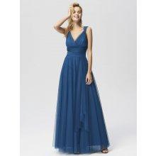 Ever Pretty luxusní dlouhé šaty 7303 modrá 839069ae93