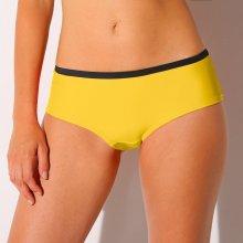 Blancheporte Plavkové kalhotky shorty s kontrastními lemy žlutá