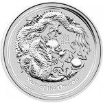 Lunární série II. - stříbrná mince 8 AUD Year of the Dragon Rok draka 5 Oz 2012