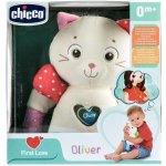 Chicco First Love kočička Oliver s chrastítkem