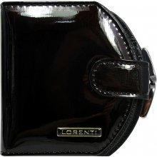 Lorenti Dámská lakovaná italská kožená peněženka malá černá 01 13 SH BLACK