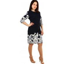 4f2064101e76 TopMode dámské květinové šaty pro plnoštíhlé modrá