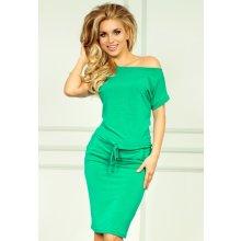 Dámské sportovní šaty s kapsami a zavazovací tkanicí zelená 2b0fb27853