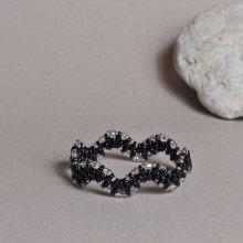 hedy natelNáramek Černé vlnky III černá 184