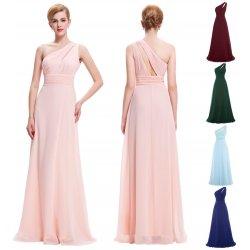 Společenské dlouhé šaty na jedno rameno 289f2b0639