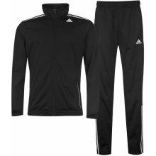 Adidas 3 Stripe Suit Mens Black/White