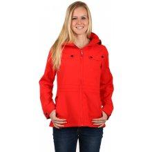 TopMode bunda na zip s kapsami červená