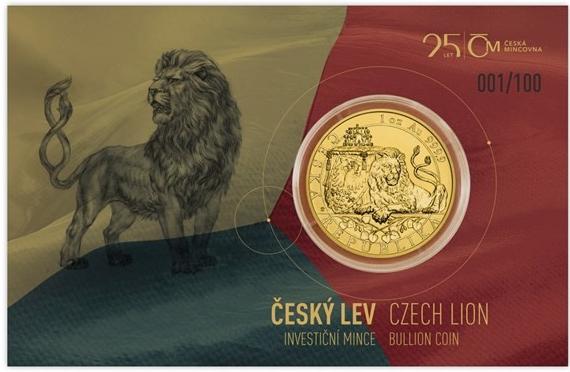 0ef95948e Recenze Česká mincovna Zlatá uncová investiční mince Český lev 2018 číslo  reverse proof 31,1 g - Heureka.cz