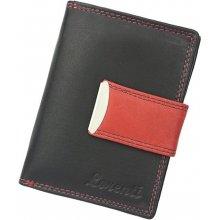 Lorenti Dámská kožená peněženka LT 02 CCF černá s červenou