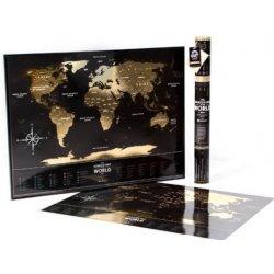 Stírací mapa světa Travel Map of the World Black