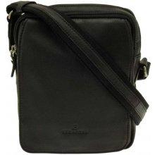 Hexagona pánská kožená taška přes rameno malá Černá 9fe1f949bb5