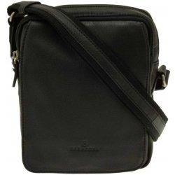 b2b8bb4334 Hexagona pánská kožená taška přes rameno malá Černá