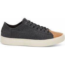 Black Wash Canvas Leather Toe Men Lenox Sneak f7dbd009f4