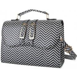 Kabelka módní elegantní malá kabelka černá bílá 84d139985d
