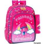 CurePink batoh Trolls: Puntíky růžový polyesterk