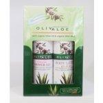 OlivAloe Natural cosmetics Sprchový gel Classic 90 ml + Tělové mléko Q3 & Q6 90 ml dárková sada
