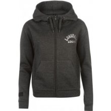 Lonsdale Zip Hoody Ladies Charcoal Marl