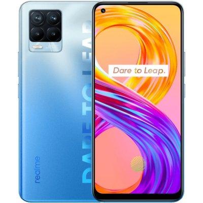 """Realme 8 Pro modrý Mobilní telefon, Dual SIM, Octa core 2,3GHz, 8GB RAM, 128GB, LTE, 6,4"""" Full HD+, foto zadní 108+8+2+2Mpx, foto přední 16Mpx, Android 11, modrý RMX3081BL"""