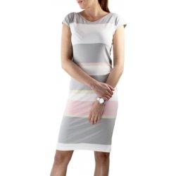 64d4ecf851a4 Pratto dámské letní šaty s krátkým rukávem pruh šedá alternativy ...