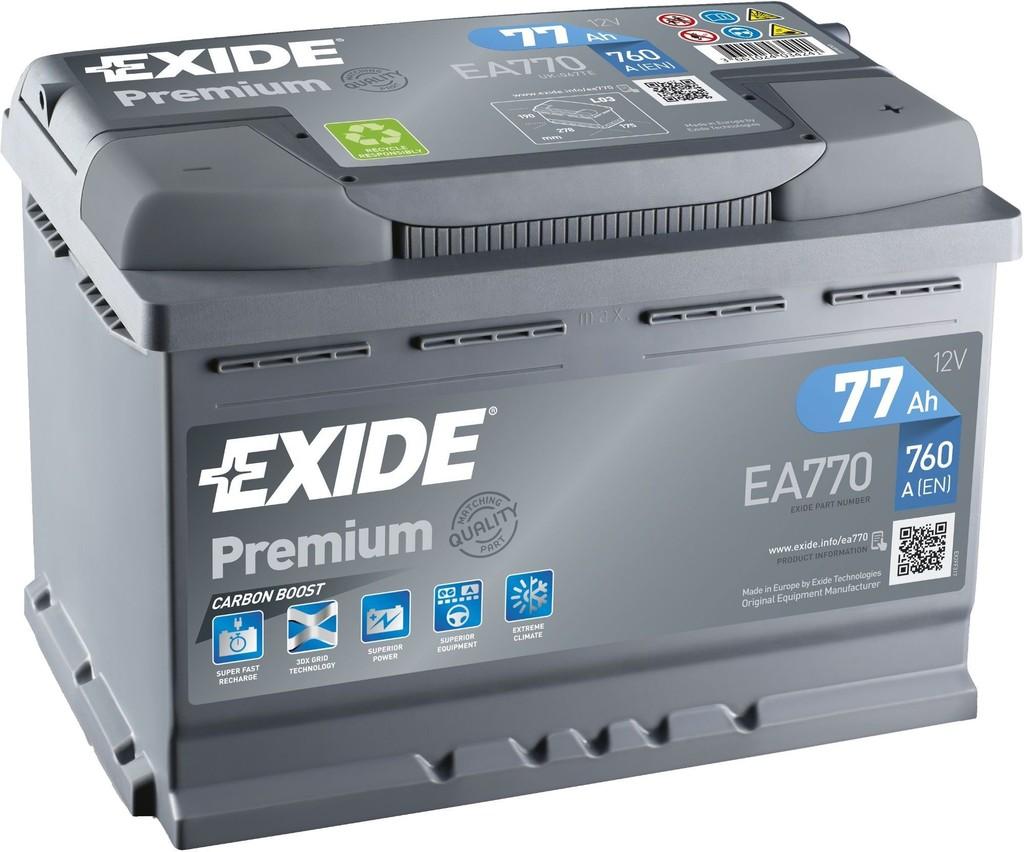 Exide Premium 12V 77Ah 760A EA770