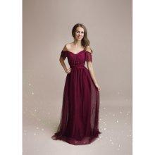 3f9aa21f935 Dámské plesové a společenské dlouhé šaty Audrey vínová