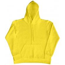 Dámská mikina s kapucí žlutá be2208ecf8