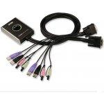 Aten CS-682 DataSwitch elektronický 2:1 (kláv.,DVI,myš,audio) USB, 1,2m kabely
