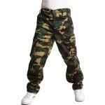 d63e1304111 YooY pánské maskáčové kalhoty zelená 54KY31